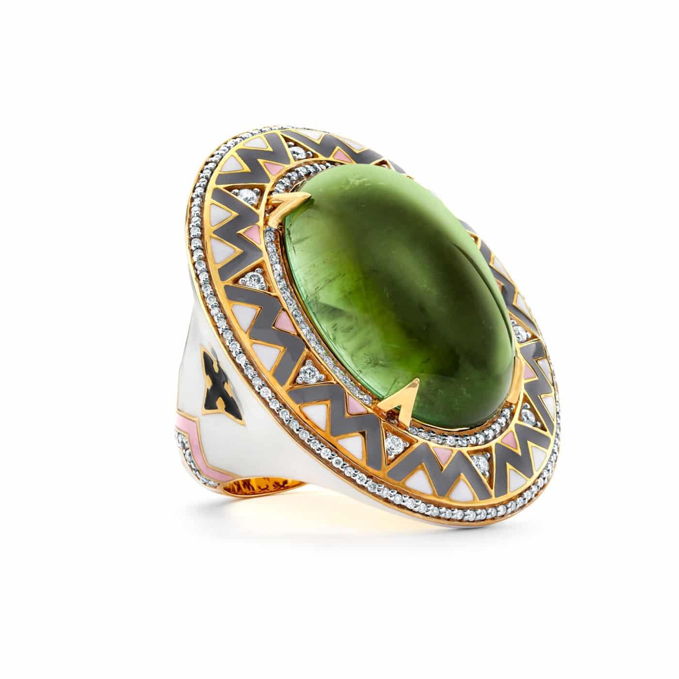 Buddha Mama Green Tourmaline Ring