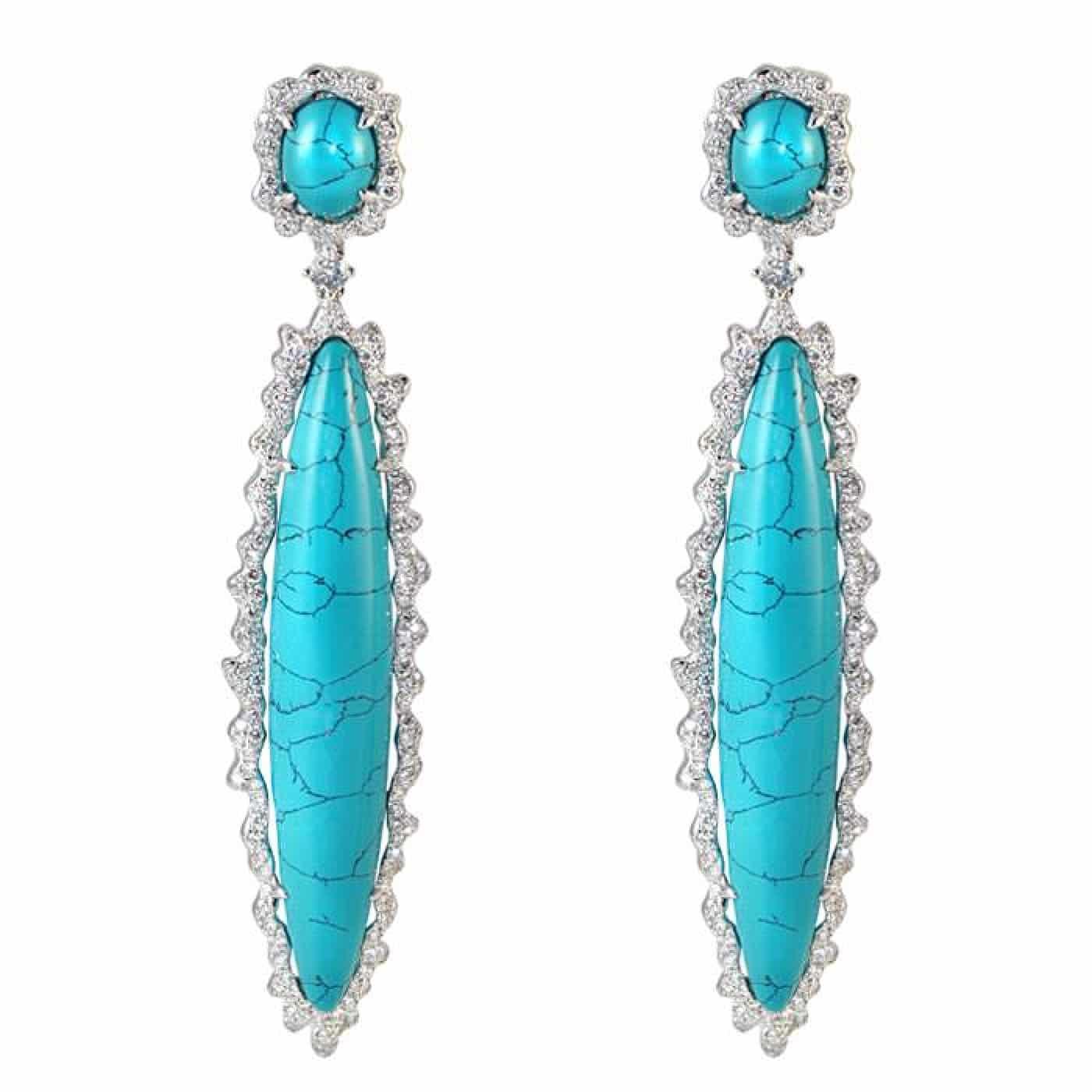 Alternative Stones - unique jewelry - TURQUOISE dangle earrings