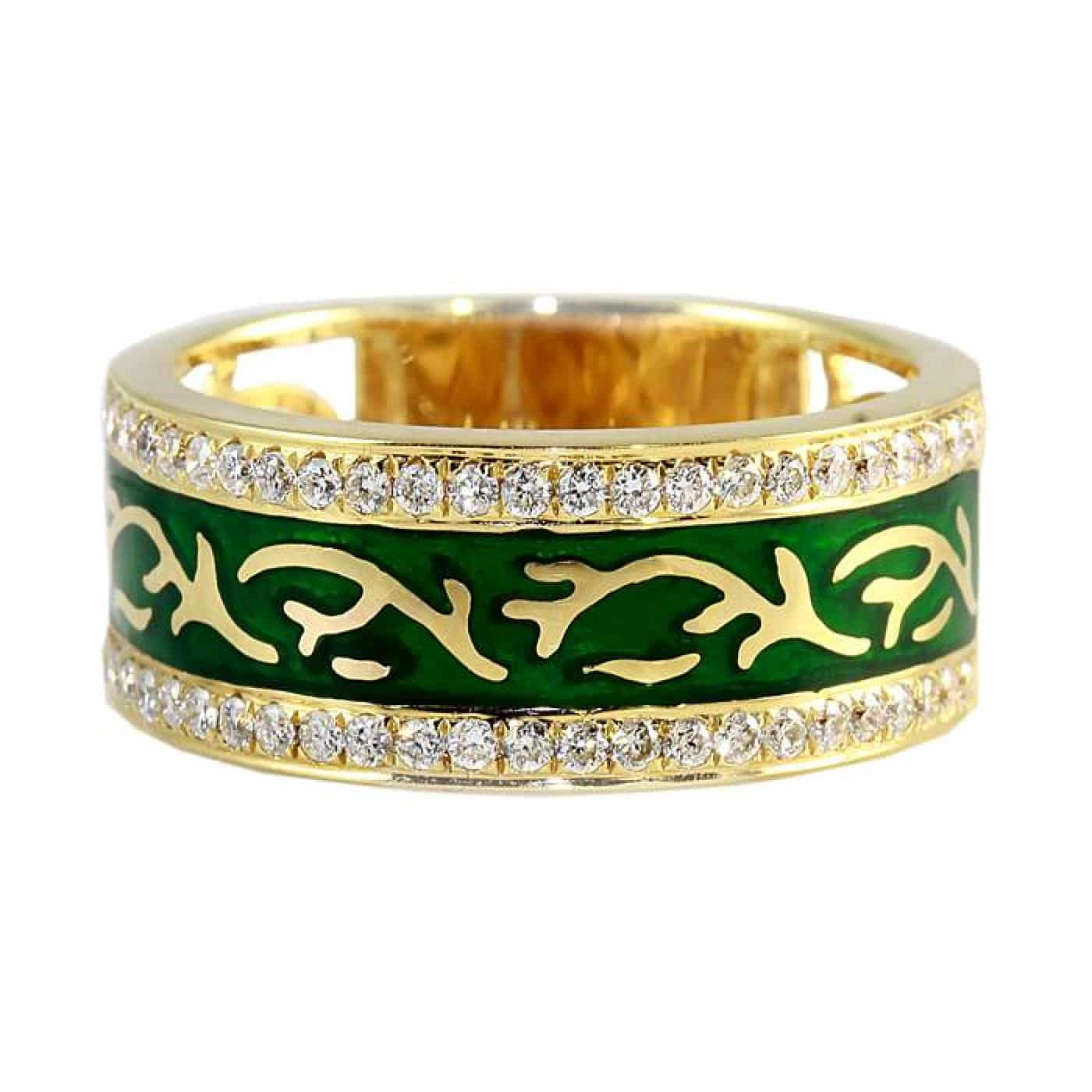 Gold and Green Ring
