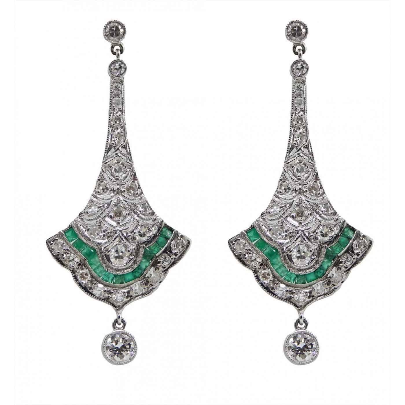 Platinum Vintage Earrings
