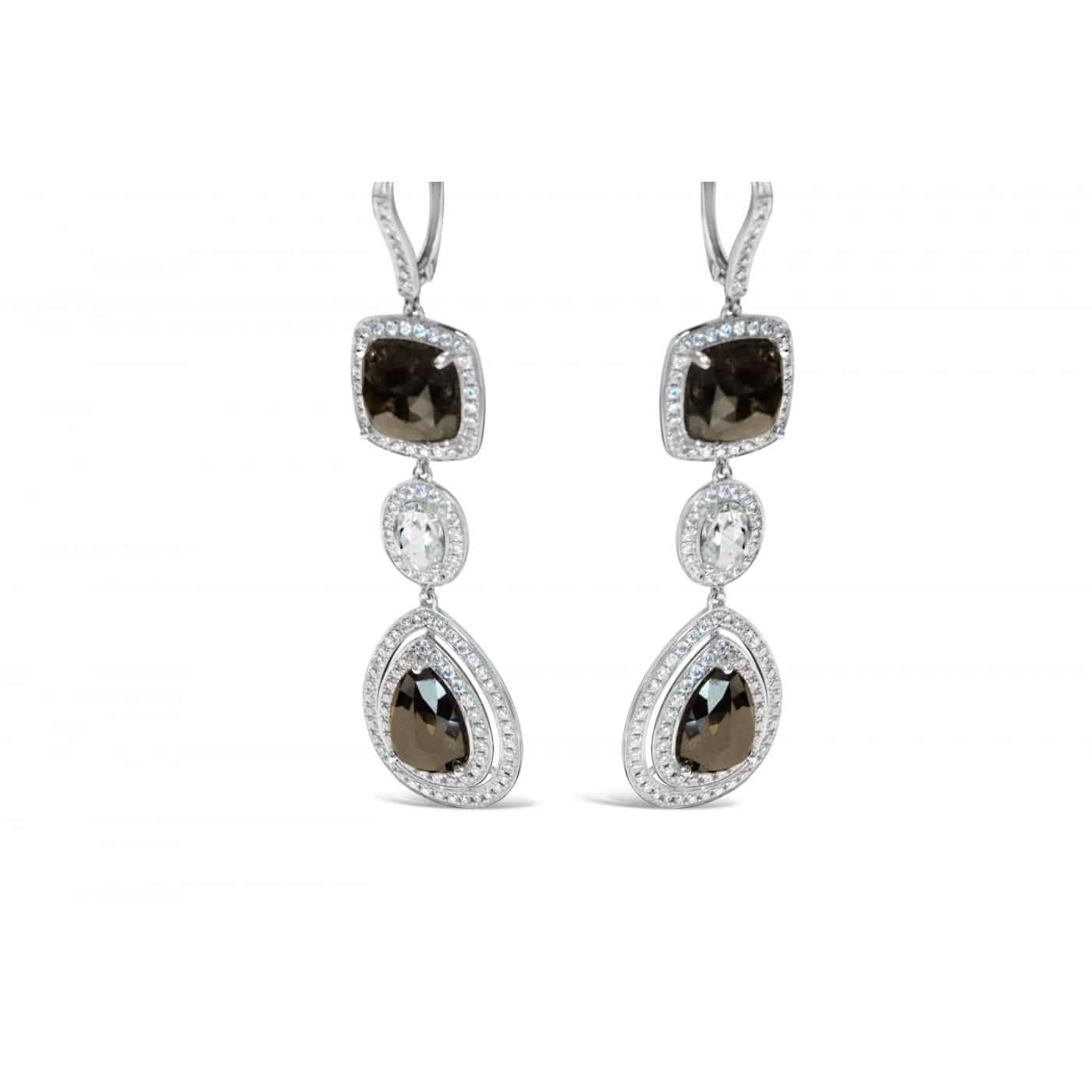 BLACK/WHITE DIAMOND EARRINGS