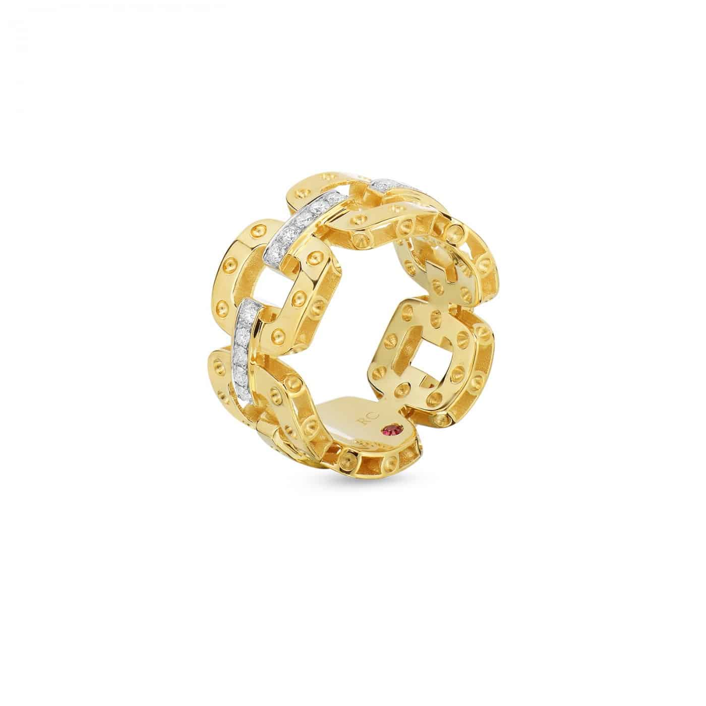 Link Ring with Diamond