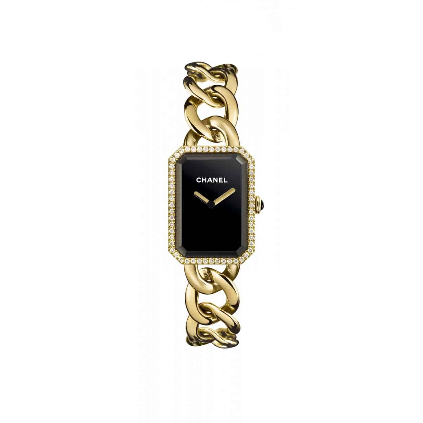 Chanel Gold Chain Diamond Watch