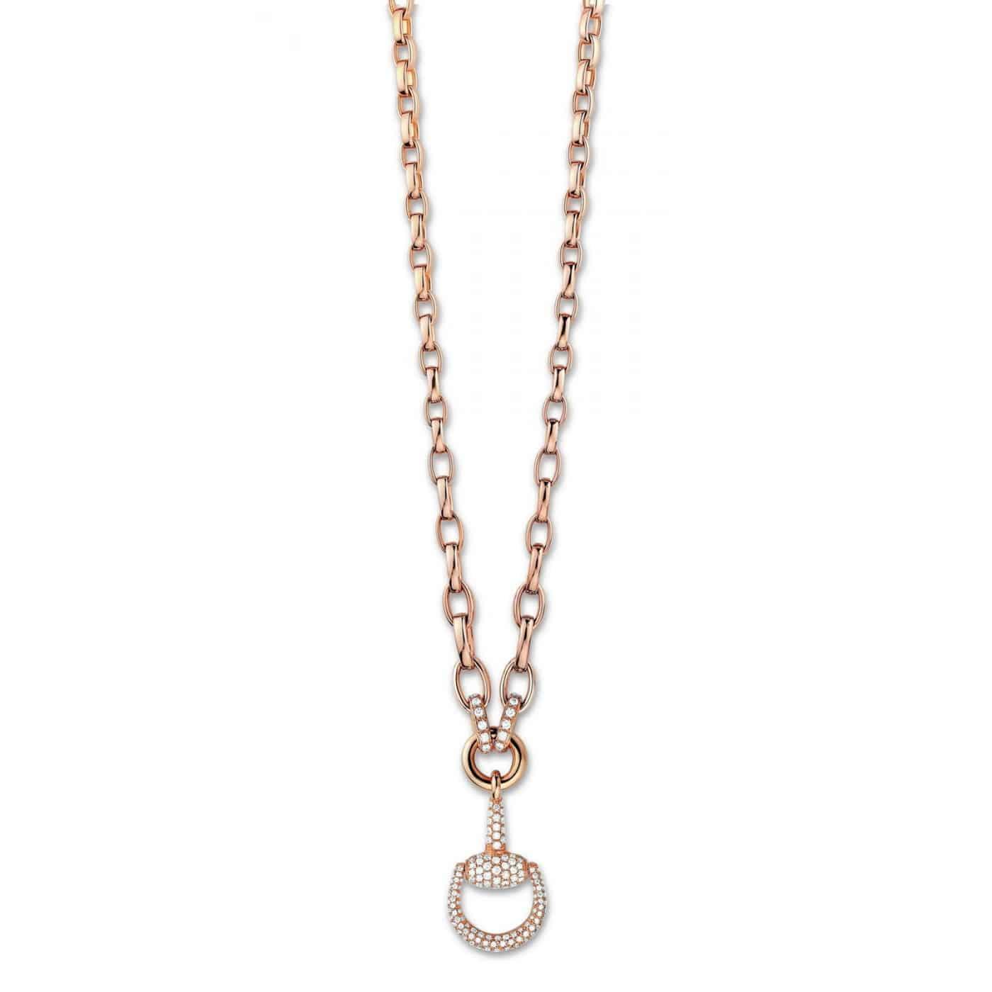 Gucci Horsebit Diamond Necklace