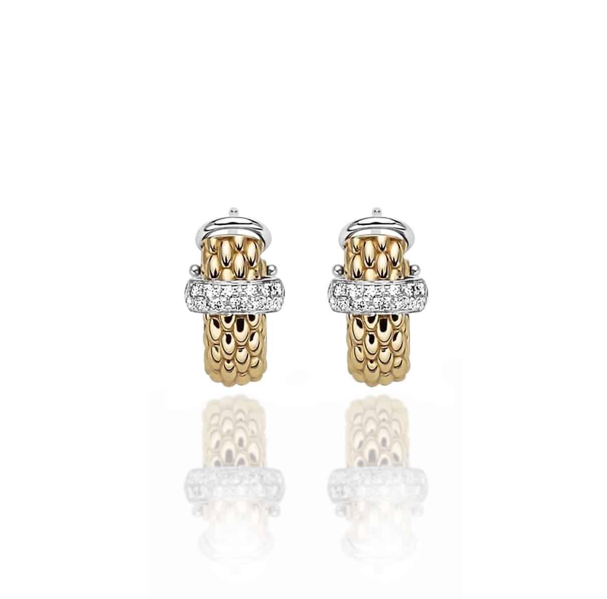 Roberto Coin 18K YG Flower Earrings